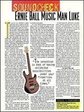 Ernie Ball Music Man Luke guitar review 1994 sound check article