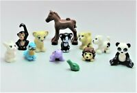 NEW LEGO Lot 12 Animal Minifigure Foal Horse Dog Cat Bunny Panda Lion Friends