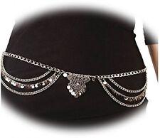 Boosic Dangle Coin Belt Dance Tassel Adjustable Waist Chain Belt Gypsy Bohemian