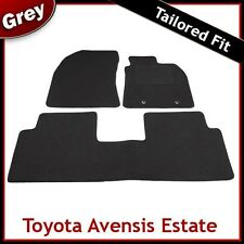 TOYOTA AVENSIS Estate Mk3 2009 onwards Tailored Carpet Car Floor Mats GREY
