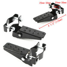 Universal Black Motorcycle Rear Foot Peg Set Footrest Bar Pinch Clamp 25-30mm 2x