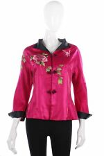 Fabulous embroidered pink Chinese jacket size M