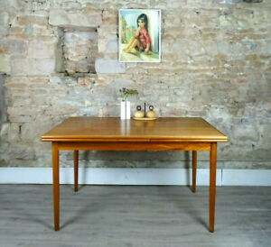 Vintage mid century 1960s DANISH teak LARGE extending dining table DELIVERY