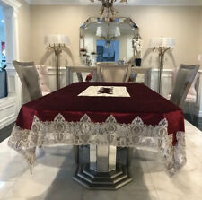 Beautiful Velvet Beaded Dining Table Cover (see description)