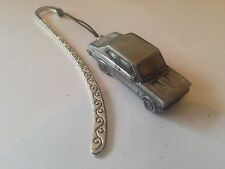 Datsun 1200 2 Door Saloon ref57 FULL CAR on a Pattern bookmark with cord