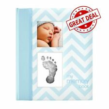 Baby Boy Memory Book Photo Album Touch Pad 50 Journal Record Pages