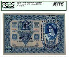 Austria ... P-48 ... 1000 Kronen … 1920-4-10 … *AU-UNC* ... PCGS 55 PPQ
