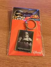OFFICIAL STAR WARS Storm Trooper Keychain Keyring Metal NEW FREE P&P