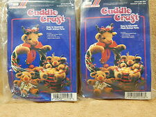 Cuddle Craft Plush Easy to Assemble Reindeer Parts Lot of 2 Kits