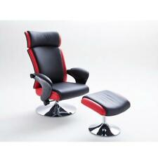 MCA Relaxsessel Bente 2. Wahl Schwarz Rot Fußhocker Fernsehsessel Rückläufer