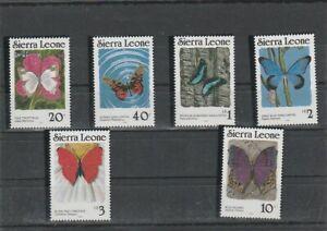 SIERRA LEONE 1989 BUTTERFLIES  SET  MNH VF