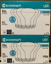 (LOT OF 2) EcoSmart 65-Watt Equivalent BR30 Dimmable LED Light Bulb, Daylight