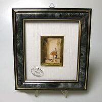 Hochwertiges Gilde Goldbild Folienbild Miniatur Bild im Rahmen 20 x 18 cm (1)