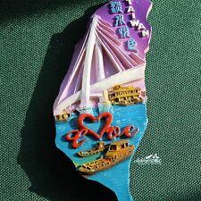 China Taiwan Reiseandenken Reise Souvenir Magnet 3D Polyresin Kühlschrankmagnete