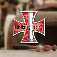 Blitzkrieg Racing Hawaii Iron Cross Sticker Aufkleber Autocollante rot 70mm