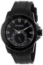 Haurex Italy Men's 3N503UNN Acros Black IP Steel Black Rubber Watch