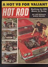 Hot Rod Magazine Jet Car Valiant V8 October 1960 FREE US S/H