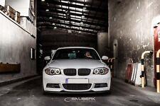 schwarz glänzende Nieren Set 1er BMW E82 Coupe VFL Frontgrill M salberk 8201