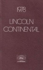2002 Lincoln Continental Owners Manual User Guide Operator Book Fuses Fluids