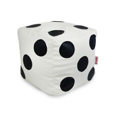 Bean Bag Chair Footstool Cubo Dice With Beans Filled Home Living Room Office