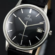 VINTAGE OMEGA SEAMASTER AUTOMATIC CAL 565 BLACK DIAL  MEN'S DRESS SWISS WATCH