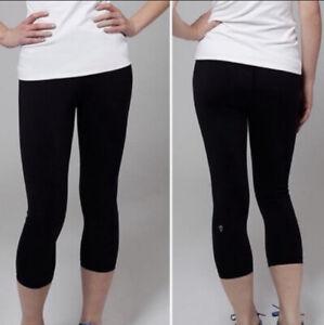 Ivivva Reversible Crop Leggings Black Size 14