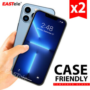 2xTempered Glass Screen Protector For Apple iPhone 13 12 11 Pro XS Max XR 8 Plus