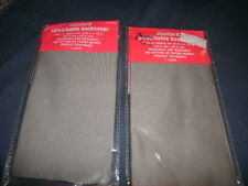 Lot of 2 NEW brown/gray/umber Book Cover Stretchable Fabric Sox size 8x10 (B144)