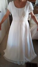 NEW with tags david's bridal white modest wedding dress 16W