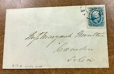 {BJ STAMPS} Confederate #12a on Aug19 1863 South Carolina cover Milky Blue shade