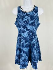Pink Victoria's Secret Size Large Dress A-Line Sleeveless Blue Tropical