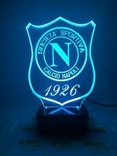 LAMPADA LED 3D  SCUDETTO  NAPOLI IDEA REGALO PERSONALIZZATA