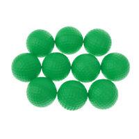 10pcs PU Foam Sponge Golf Training Soft Balls Golf Practice Balls - Green