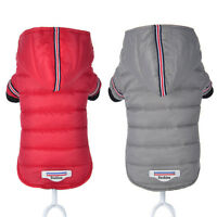 Winter Dog Hoodie Clothes Small Medium Dog Coat Jacket for Puppies Red Grey