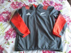 New Zealand All Blacks 1/4 Zip Fleece Lined Training Jacket 2017 large