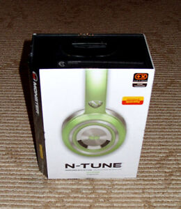 Monster N-Tune 128512 Sea Foam Pearl Green Wired Headphones! HTF Rare Color! New