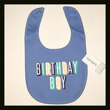 New CARTERS Bib - BIRTHDAY BOY - Blue