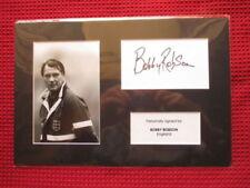Signed Cards 1970s Soccer Memorabilia