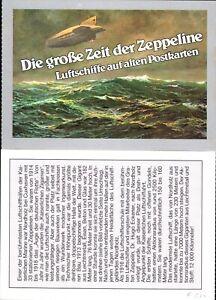 """Ansichtskarte -Zeppelin, """"Die großen Zeppeline"""" mit Erläuterung auf der Rückseit"""