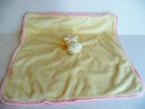Beeby Inc Yellow Pink Horse Lovey Blanket Soft Security Toy Girls