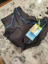 Twotwowin Women's Padded Cycling Shorts, Size X-Large Black/w Blue Nwt