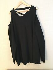 Black Knitted Vest Top Plus Size 30/32