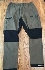 Fox Racing Mens Womens Dark Khaki Cargo stretch Pants L ~ See Photos Very Nice!