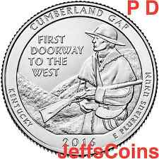 2016 PD Cumberland Gap National Historical Park QUARTER SET P D U.S. Mints 16abd