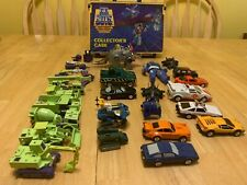 GoBots Transformers Lot Devastator Puzzler Renegade Dinobot Case Vamp Darkseid