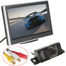 5Inch TFT-LCD 2CH Car Rear View Monitor +7 IR Light Car Backup Reserving Camera