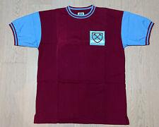 1966 West Ham Home No 6 (Bobby Moore) Retro Shirt S/S size L