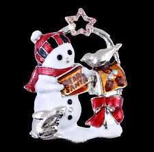 Lovely Christmas Snowman Brooch Pin Star Holiday Boys Girls Jewelry Gifts Xmas