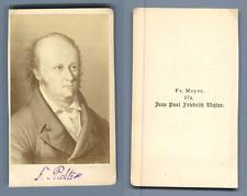 Jean Paul Friedrich Richter, d'après dessin Vintage albumen  Carte de Visit