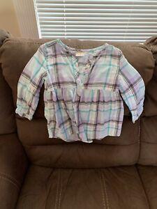 Jumping Beans Baby Girl Plaid Tunic Babydoll Shirt